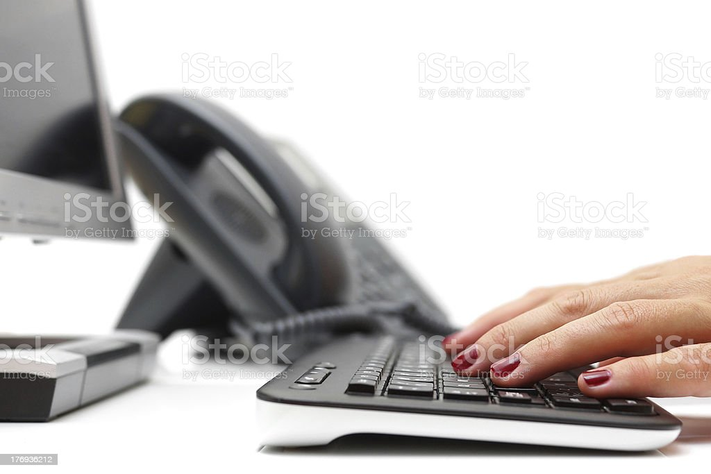 working in call center royalty-free stock photo