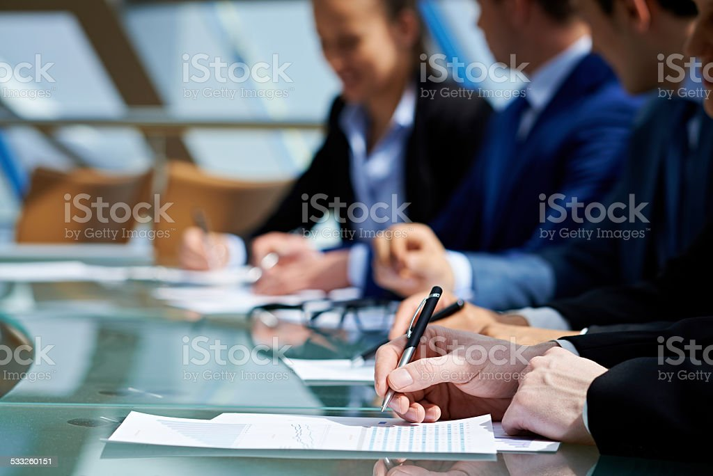 Working in finance stock photo