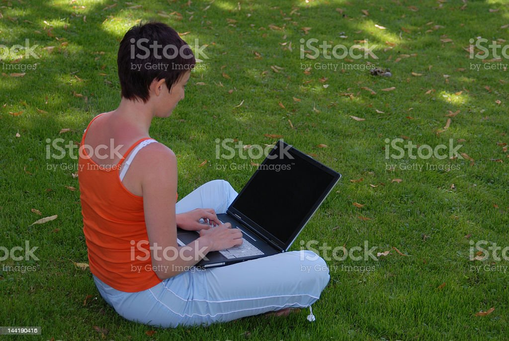 Working in nature 11 # royalty-free stock photo