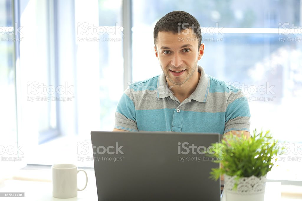 working in office royalty-free stock photo