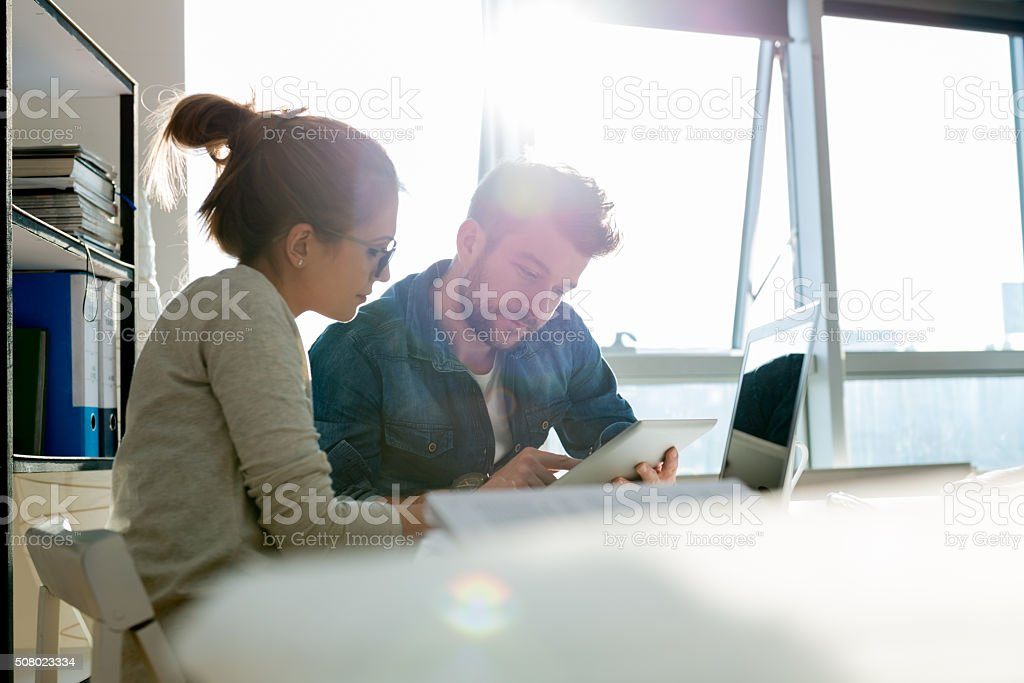 Working in office stock photo