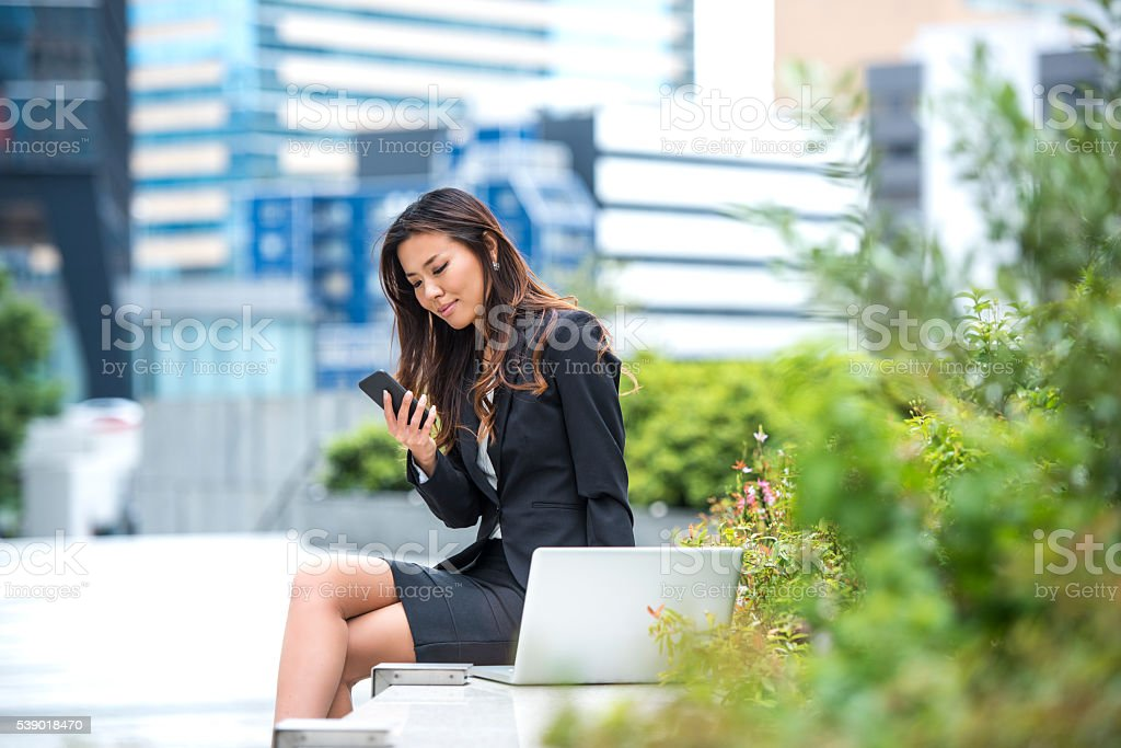 Working in quiet environment is a lot easier stock photo