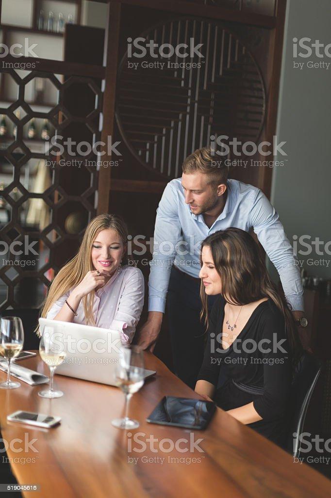 Working in restaurant stock photo