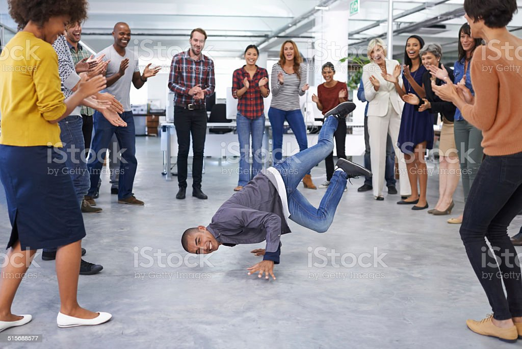 Working in sales is a bit of a balancing act stock photo