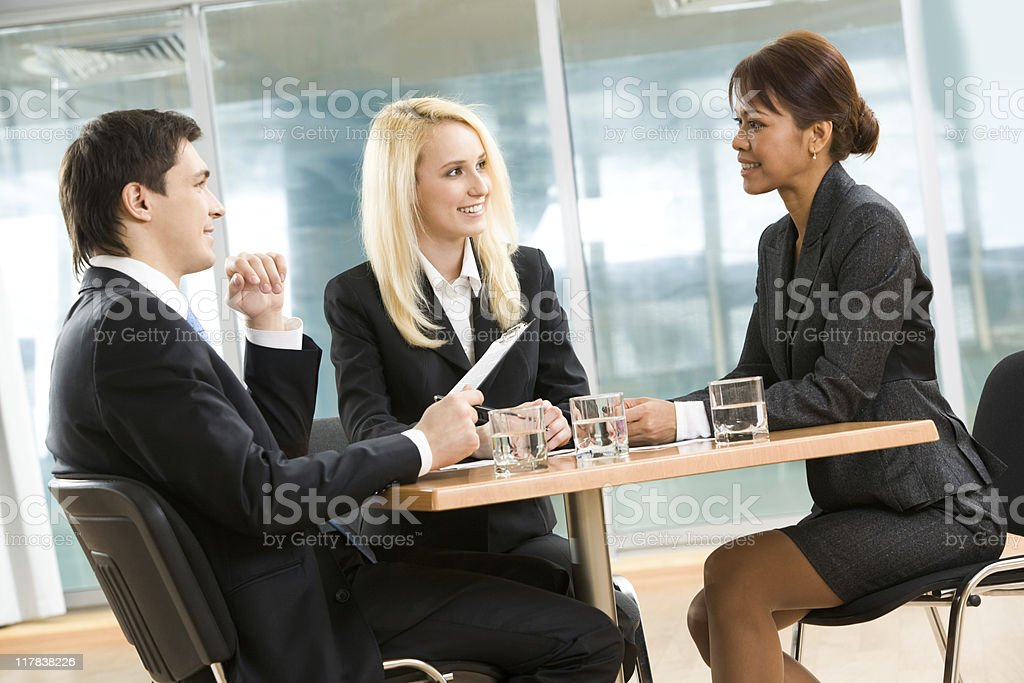 Working in team royalty-free stock photo
