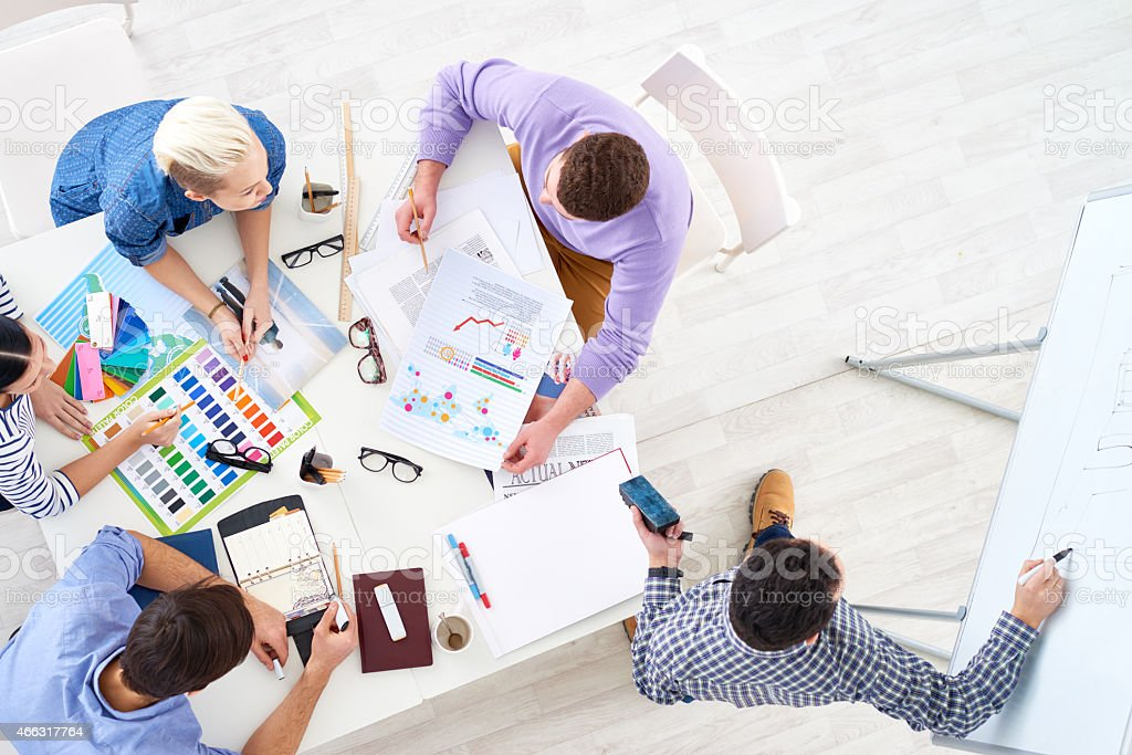 Working in team stock photo