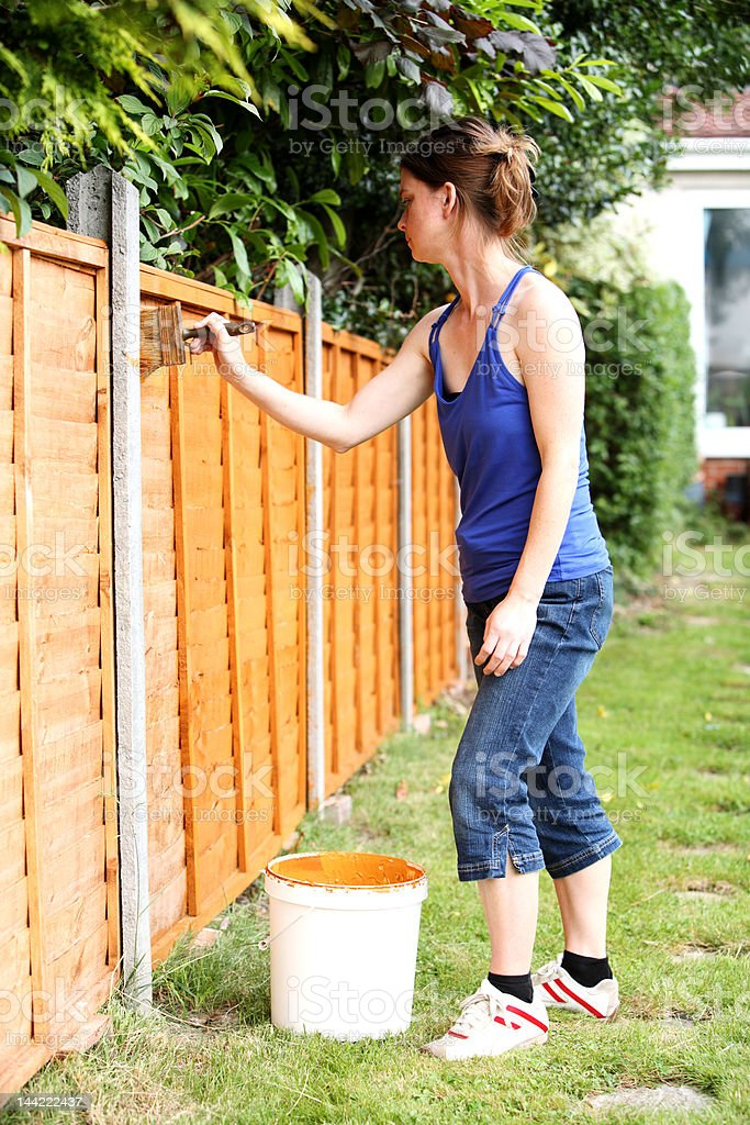 Working in the garden royalty-free stock photo