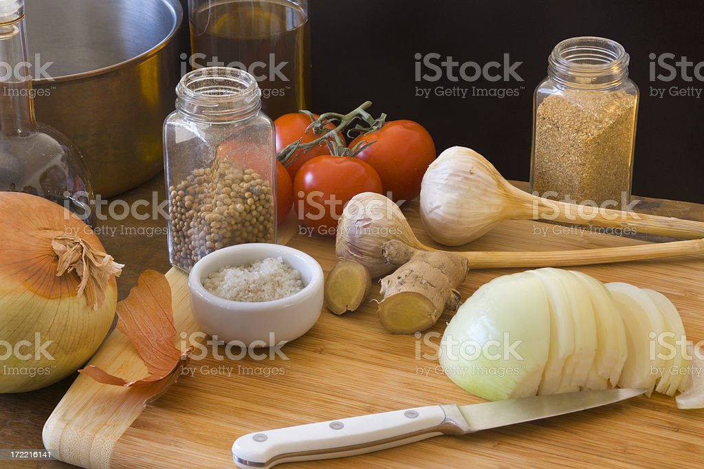 Working in the Kitchen Hz royalty-free stock photo