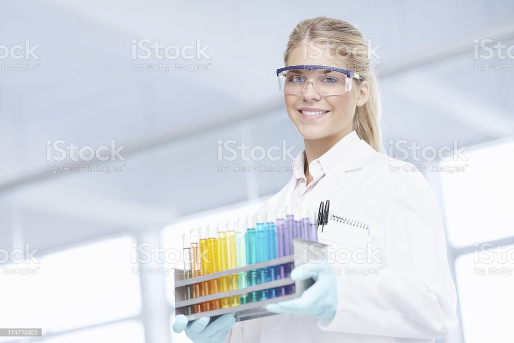 Working in the lab stock photo
