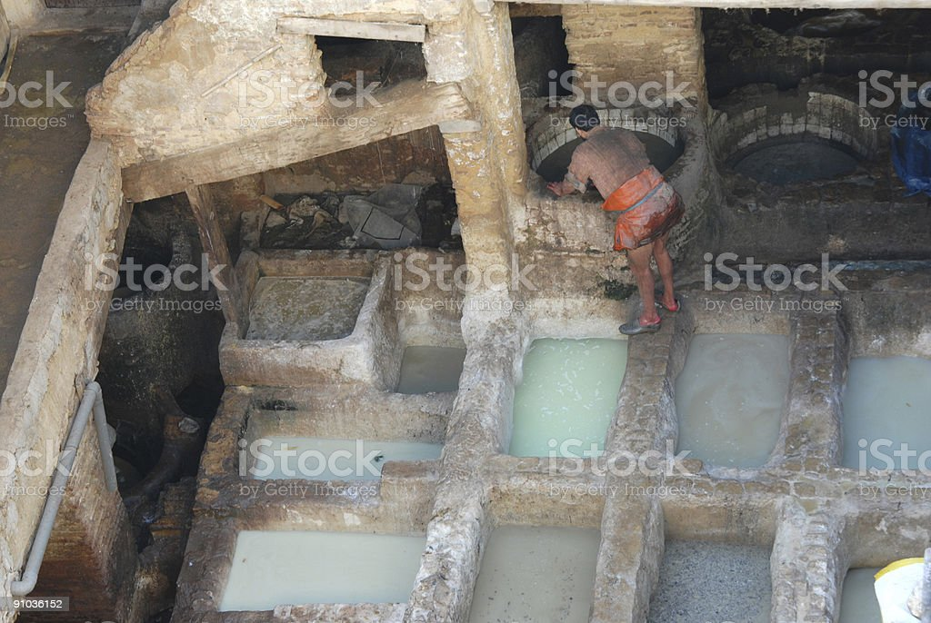 Working in the vats royalty-free stock photo