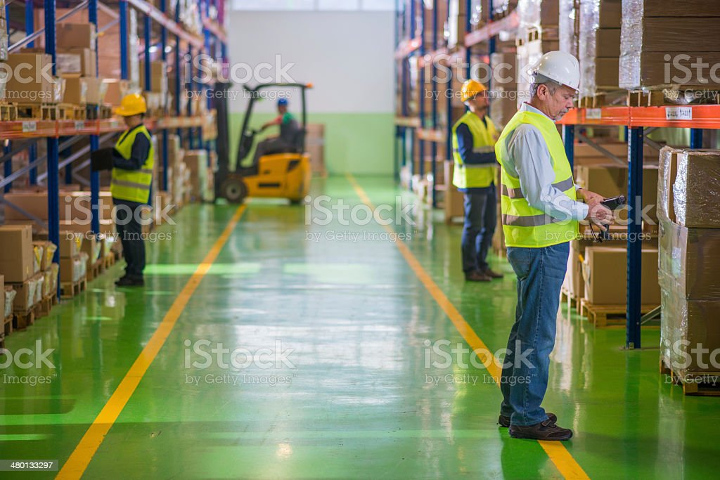 Working In The Warehouse stock photo