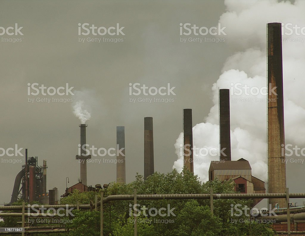 Working Industrial park stock photo