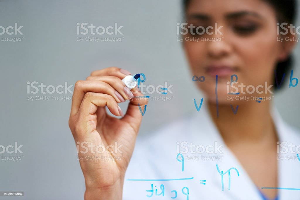 Working it all out stock photo