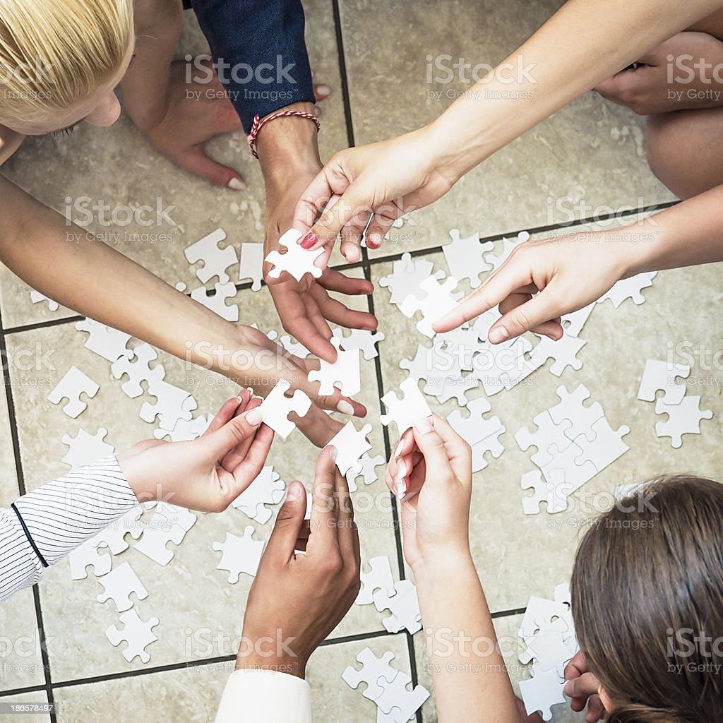 Working It Out Together royalty-free stock photo