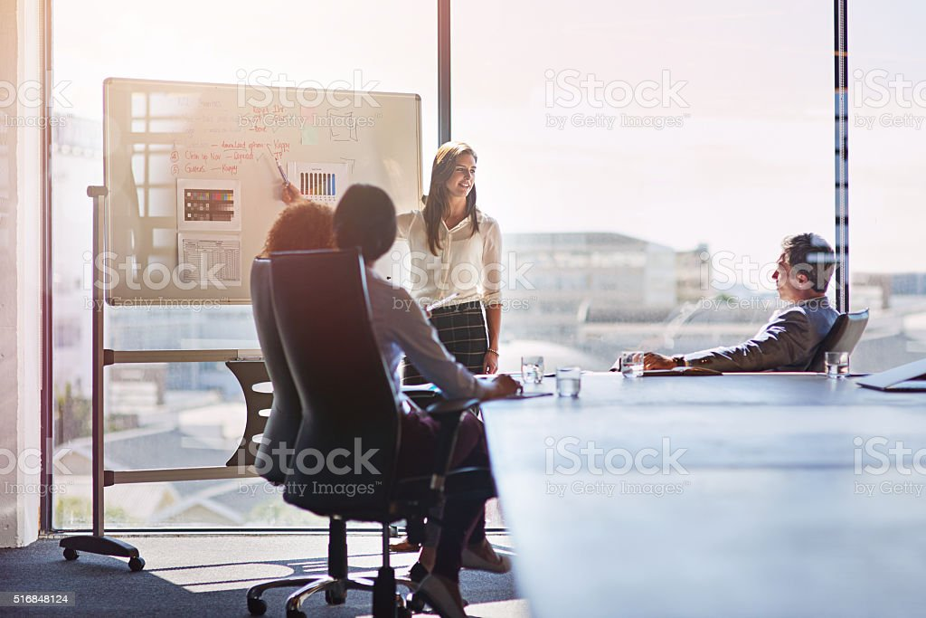 Working late into the day stock photo