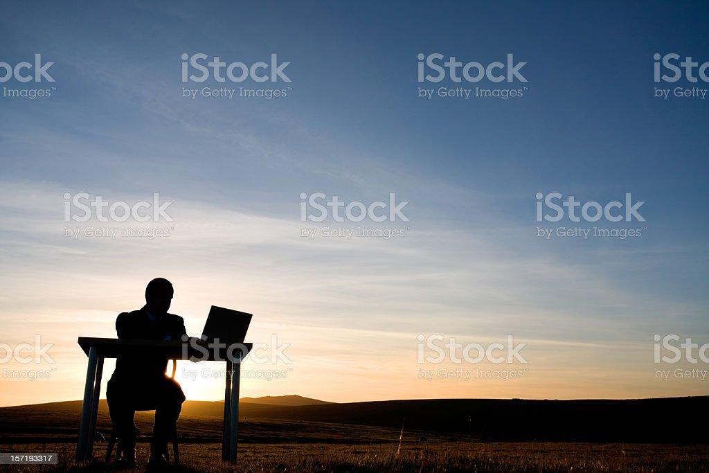 Working late stock photo