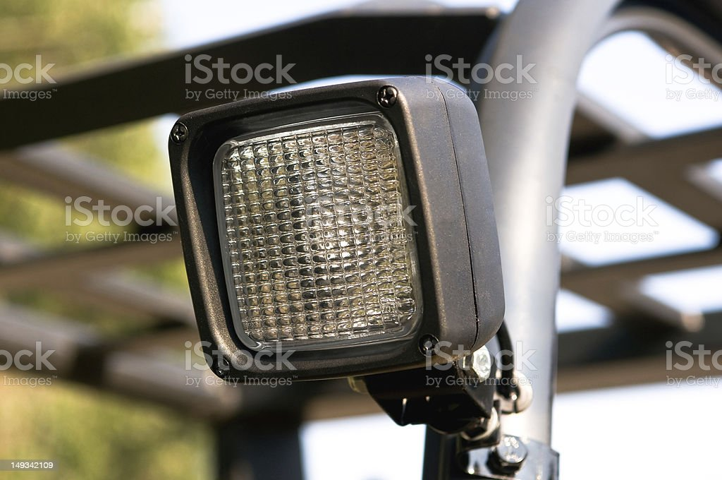 Working light of a forklift truck stock photo