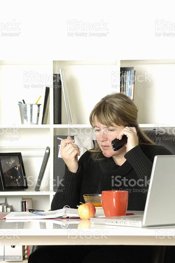 Working lunch royalty-free stock photo