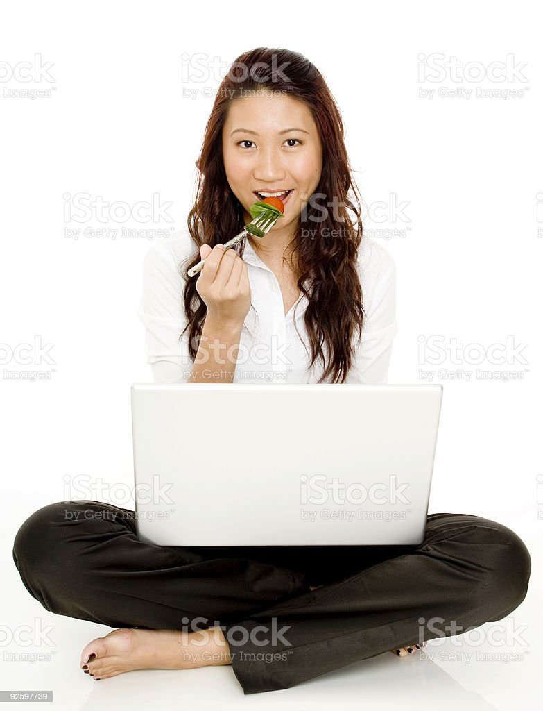 Working Lunchbreak royalty-free stock photo