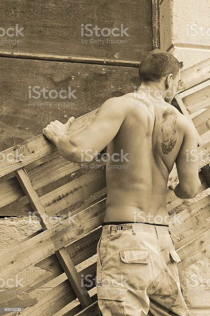 working man royalty-free stock photo
