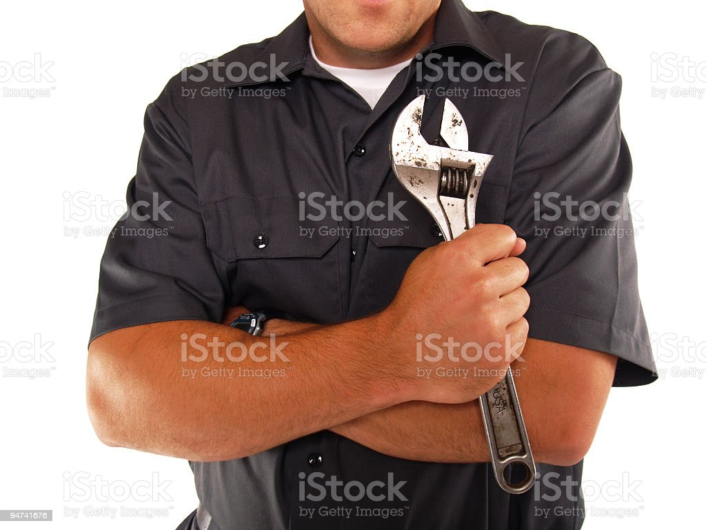 Working Man Torso and Arms royalty-free stock photo