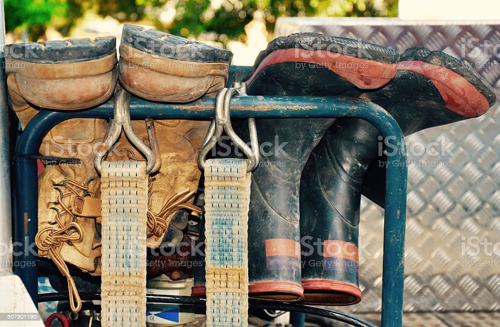 Working Man's Boots stock photo