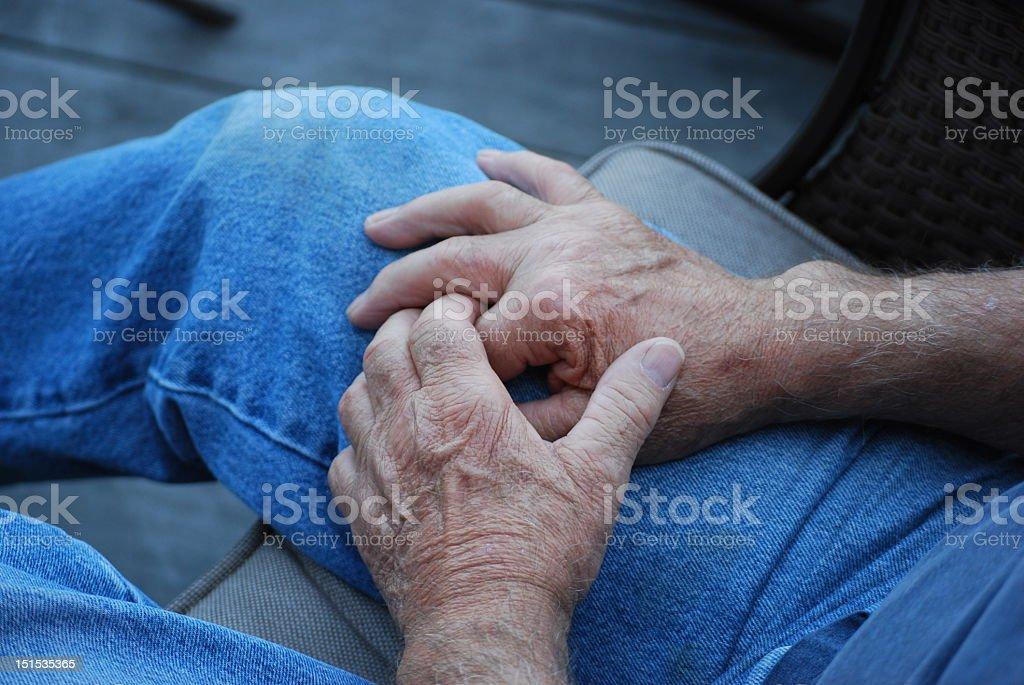 Working mans hands stock photo