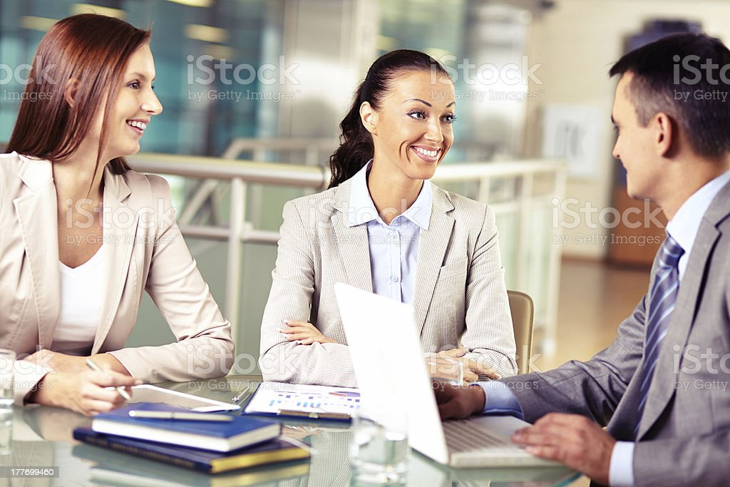Working meeting royalty-free stock photo