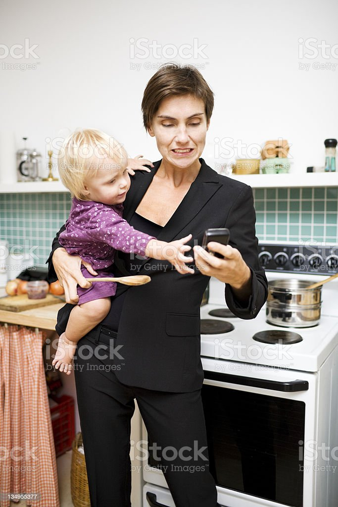 Working mom royalty-free stock photo
