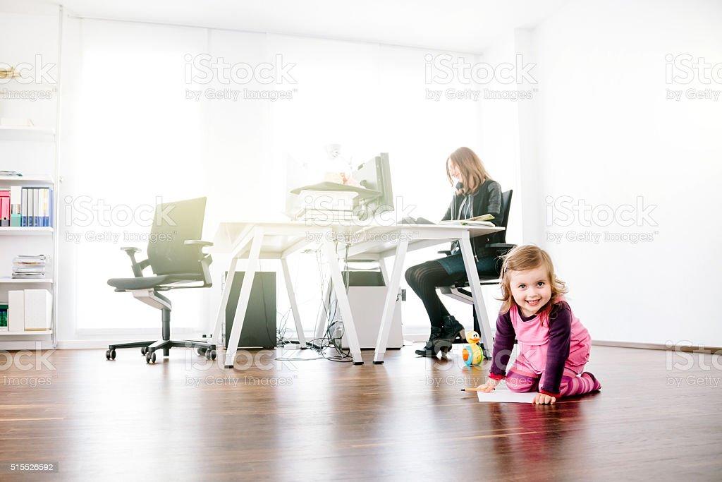 Working Mom stock photo