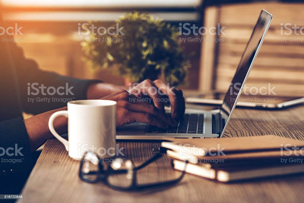 Working moments. stock photo
