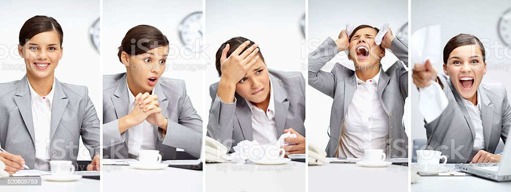 Working moments stock photo
