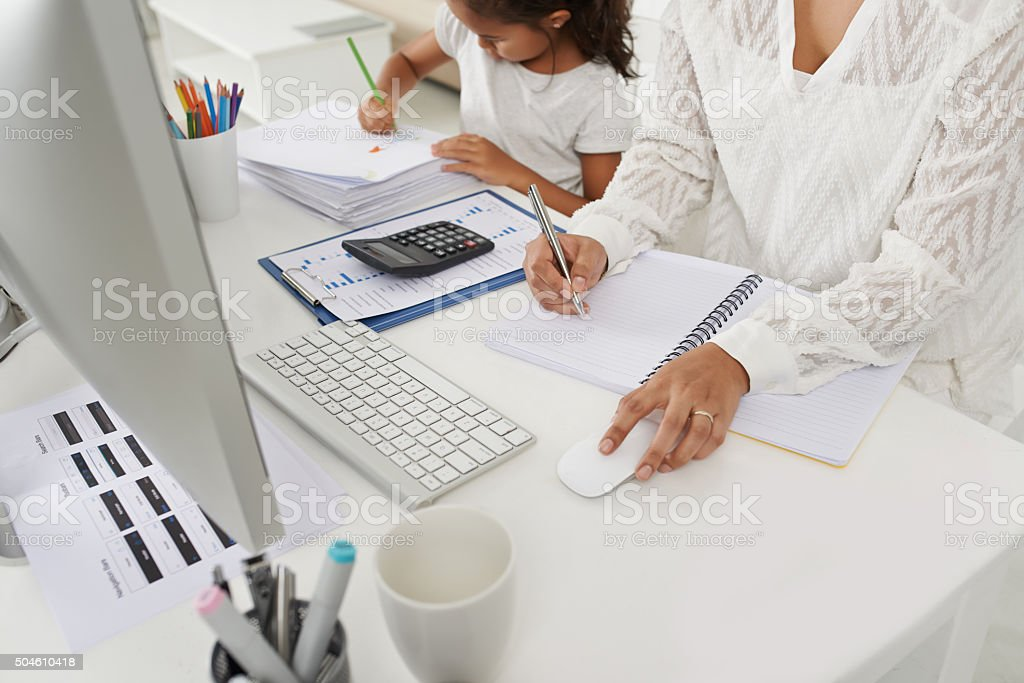 Working mother concept stock photo