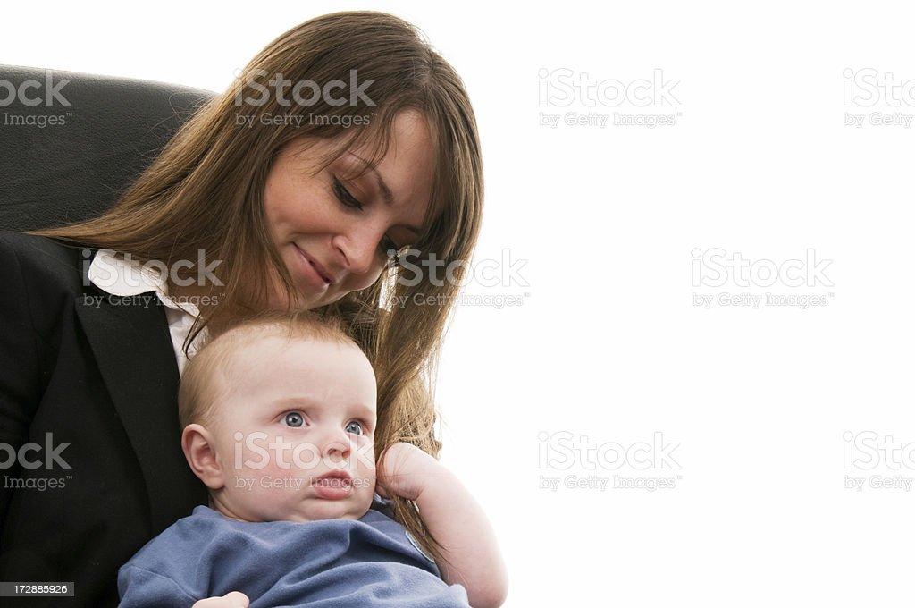 Working Mum royalty-free stock photo