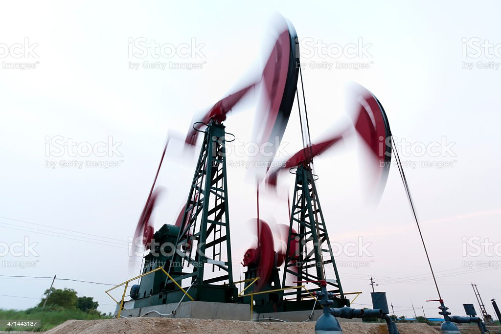 working oil pump royalty-free stock photo