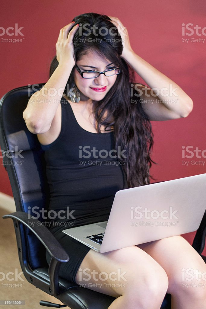 Working on a chair at home royalty-free stock photo