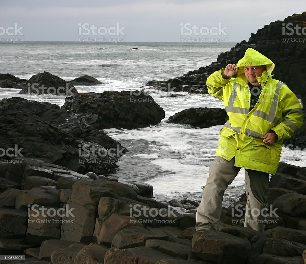Working on a coast royalty-free stock photo