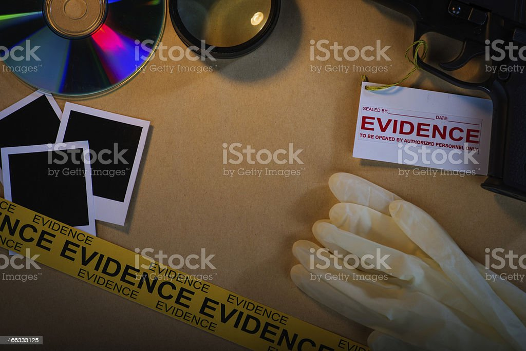 Working on a crime report stock photo
