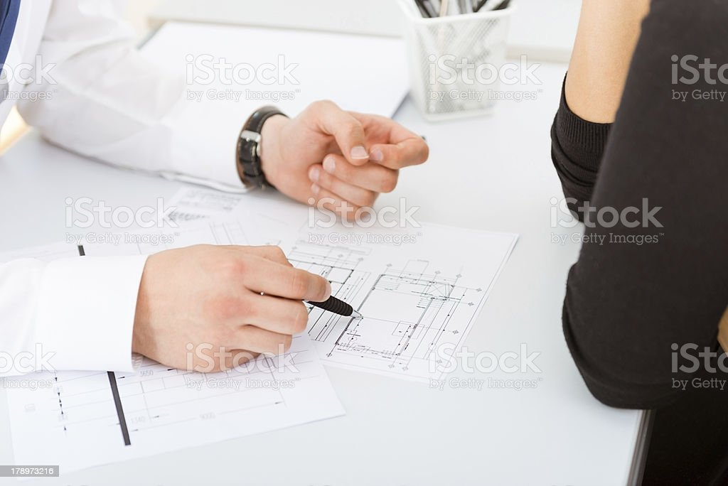 Working on a project royalty-free stock photo