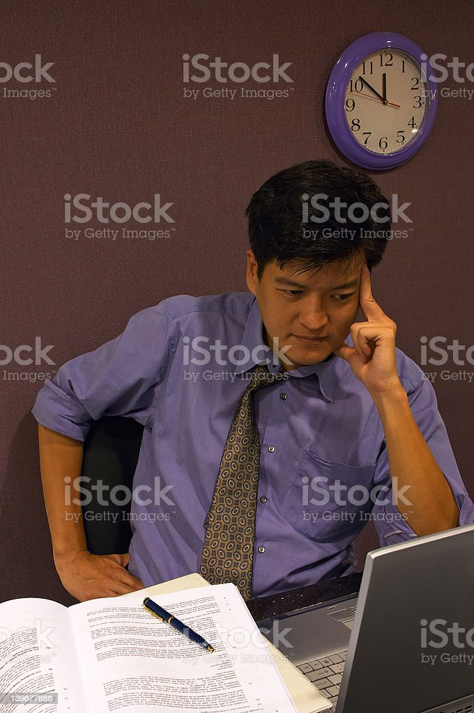 Working On A Solution stock photo