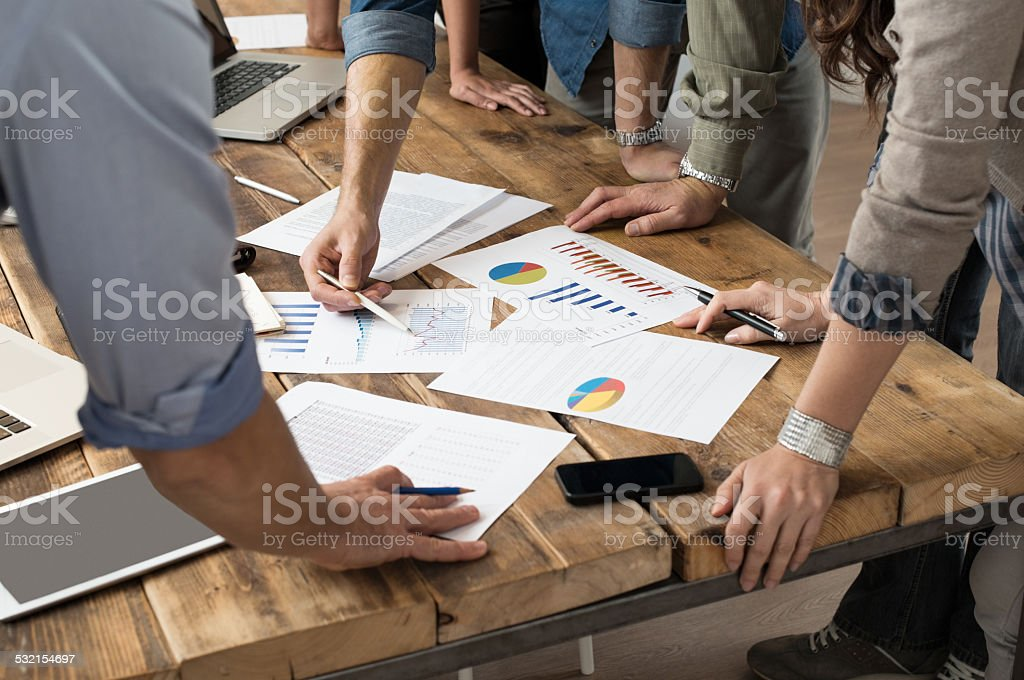 Working on documents stock photo