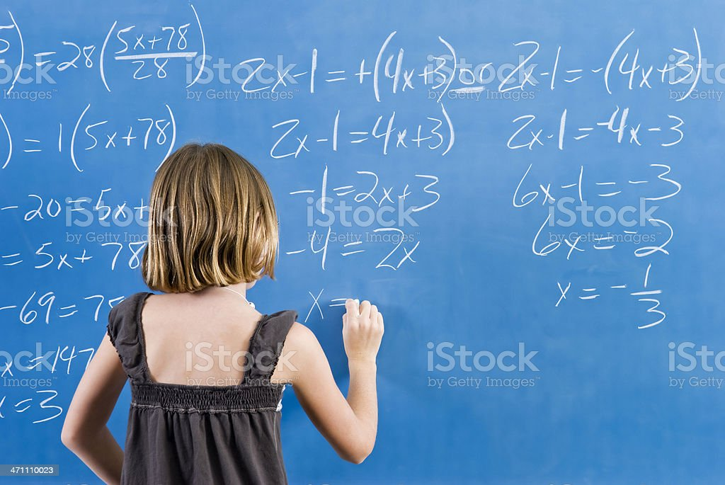 Working on math equation royalty-free stock photo