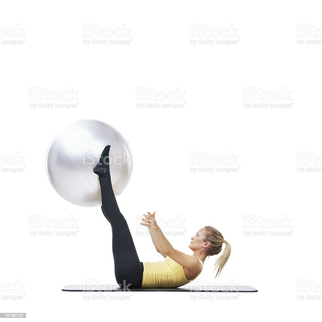 Working on my abs royalty-free stock photo