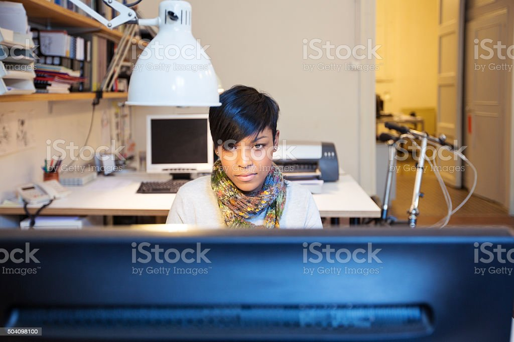 Working on new business project stock photo