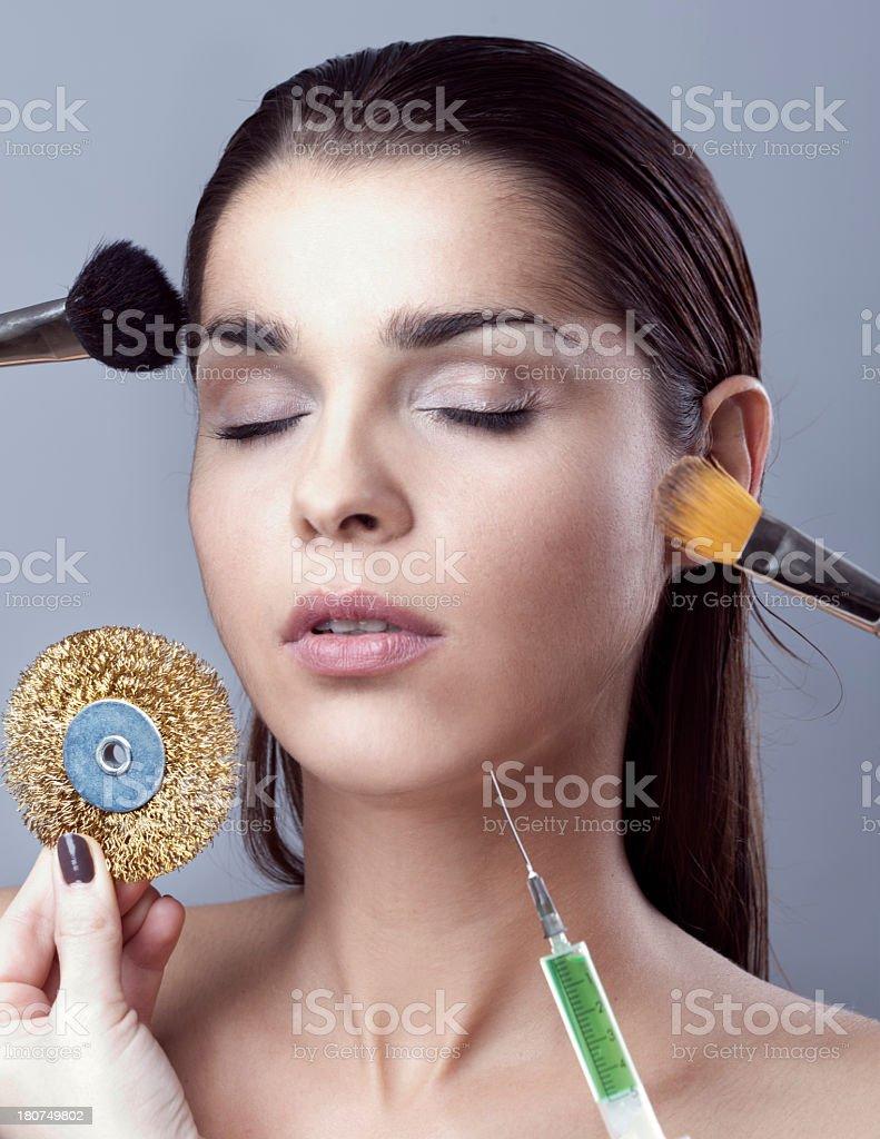 Working on skin royalty-free stock photo