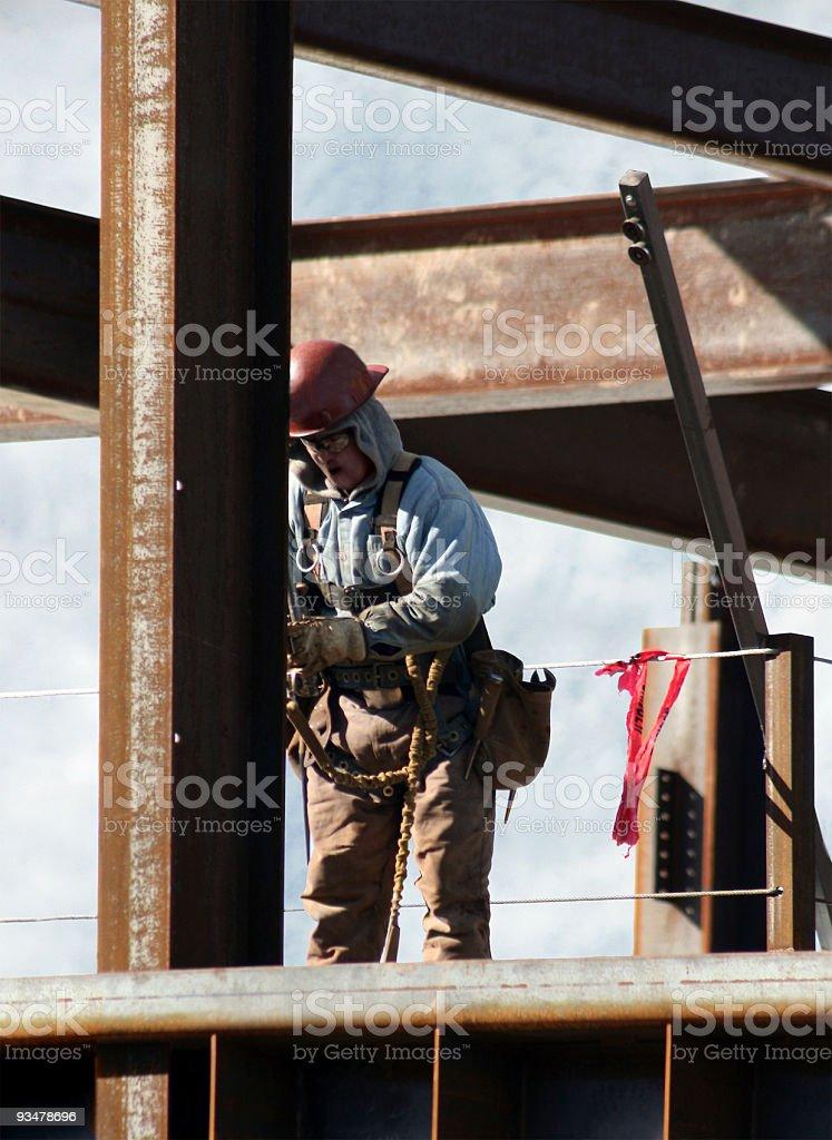 Working on Steel Beams stock photo