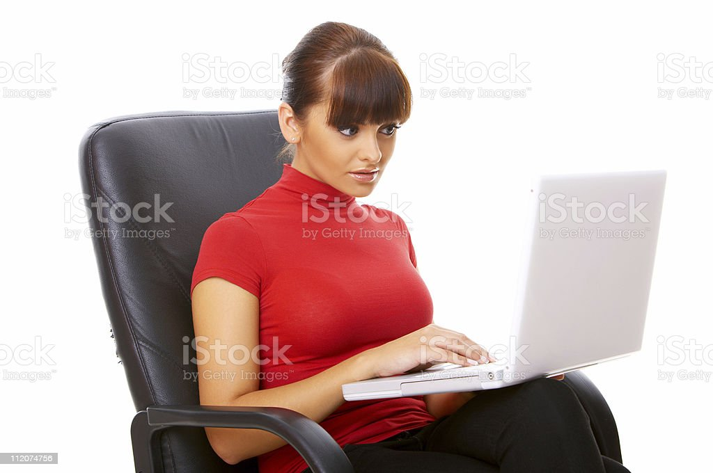 Working on the chair royalty-free stock photo