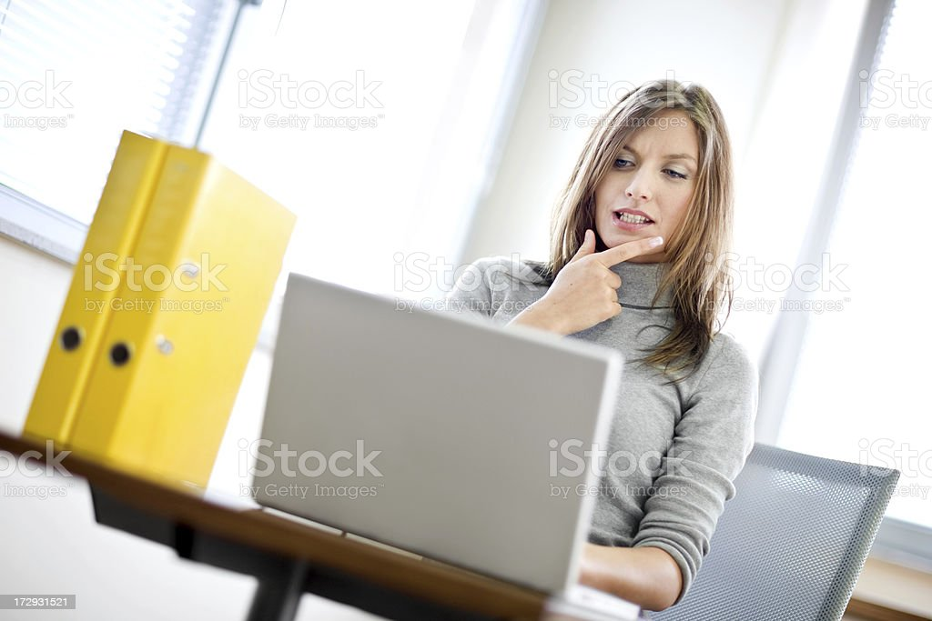 working on the computer royalty-free stock photo