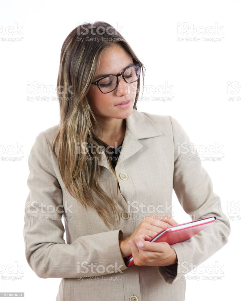 Working on the Go stock photo