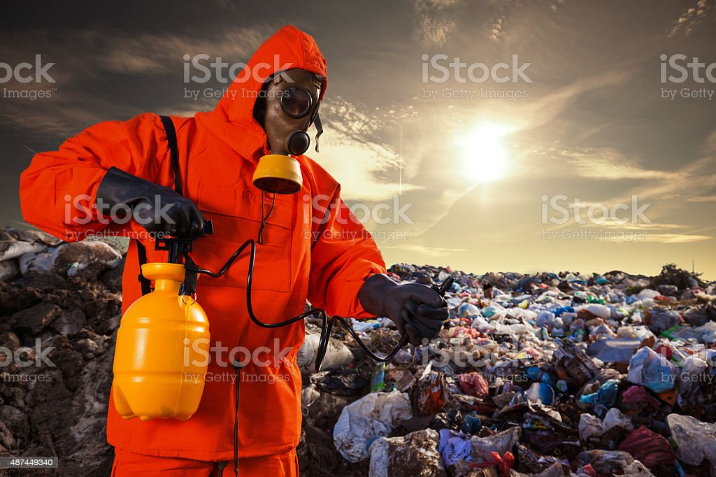 Working on the Landfill stock photo
